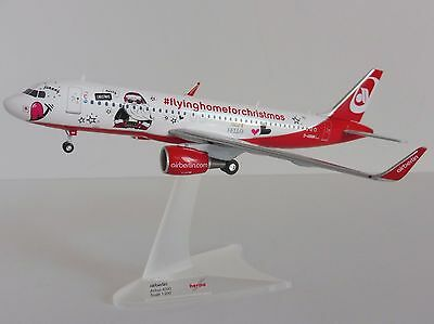 AIR BERLIN FLYING HOME ) for Christmas Airbus A320 1/200 Herpa 558150 Airberlin