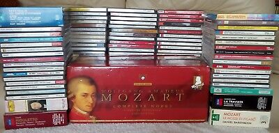 LARGE CLASSICAL CD JOB LOT including 170 cd Set of Complete works of Mozart