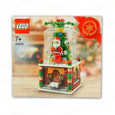 lego weihnachtliche schneekugel limitierte auflage 40223. Black Bedroom Furniture Sets. Home Design Ideas