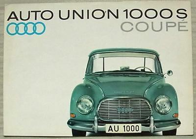 AUTO UNION 1000S COUPE Car Sales Brochure c1962 #WB 3779 (30-J-122)