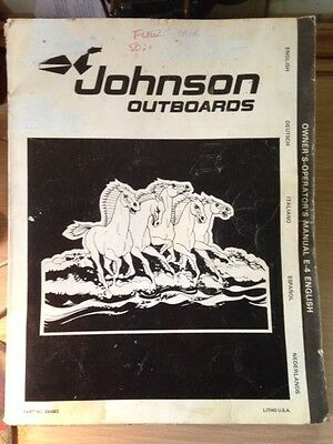Johnson 4hp Twin Owners Manual (1980)