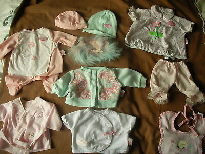 MIXED LOT BUNDLE OF ZAPF BABY annabelle CLOTHES BUNDLE ~ 10 items .