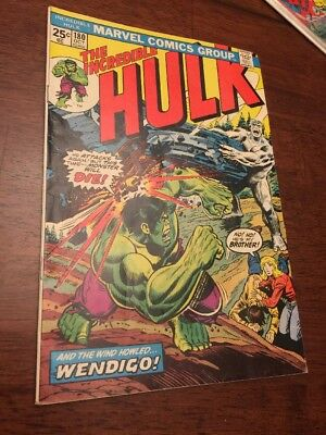 Marvel Comic The Incredible Hulk 180 First  Wolverine Beautiful