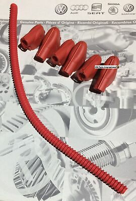 VW Golf MK4 R32 TT Ignition Coil Packs Red Cable Covers Genuine New OEM VW Parts