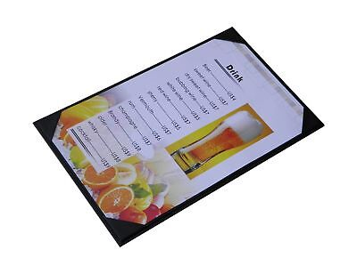 "10 Pcs of Menu Cover 8.5"" X 14"" InchesSingle ViewSold By BoxWith Clear PVC sh..."