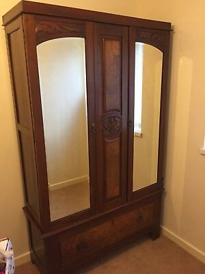 Victorian Double Mirror Door Wardrobe, Hand Crafted, Beautifully Presented
