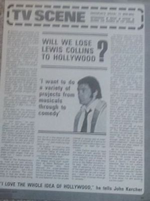 Will We Lose Lewis Collins to Hollywood? Bodie Professionals Photoplay Interview