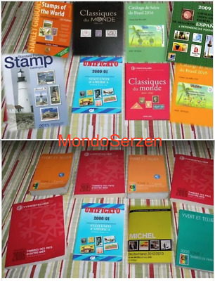 List Catalogs - Stamps - World, Yvert, Scott, Michel, Stanley Gibbons, Unificato