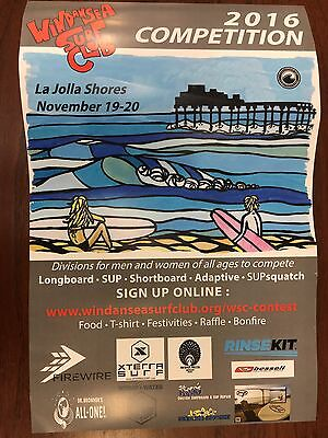 Surfing Poster Wind n' Sea Surf contest 2016