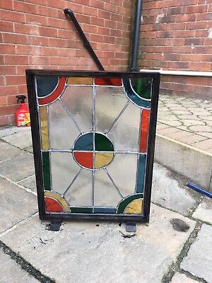 stained glass panels, fire screen, wall art , hand made