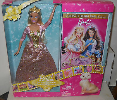 #7355 NRFB Mattel Barbie Princess & the Pauper Doll & DVD Video Set