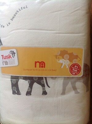 Cot Bumper For A Cot Or A Cot Bed From The Tusk Range At Mothercare ....Bnip