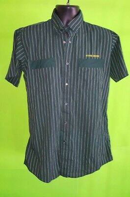 Vtg 1980s John Deere Uniform Shirt by Protexall Green  Button Snaps - M