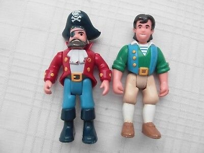 Little Tikes Mighty Adventures Pirate Lot 2 Action Figures Captain