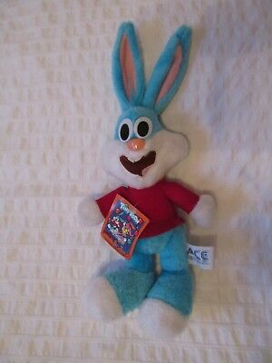 1990 Buster Bunny Tiny Toon Adventures Ace Plush Doll 14""