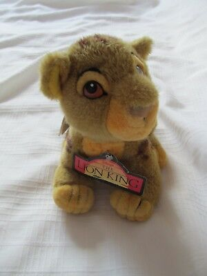 Disney Store Lion King Cub Baby Simba Plush Doll 8 Inch