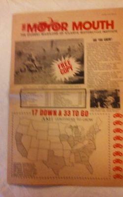 June 1973 - The Motor Mouth Newspaper - Atlanta Motorcycle Institute - Original