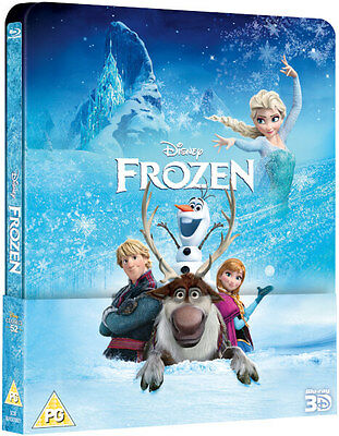 Frozen - Limited Edition Lenticular Steelbook (Blu-ray 3D/2D) Disney *BRAND NEW*
