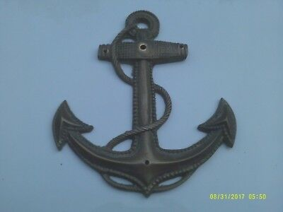 Vintage Solid Brass Nautical Anchor Wall Decor Inside Or Out