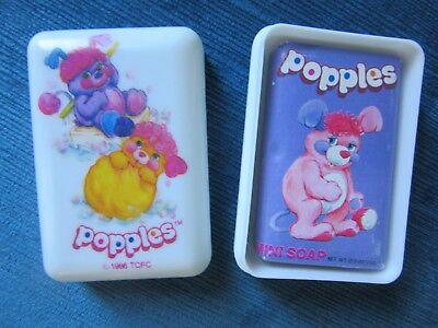 Popples soap unused with soap dish and cover