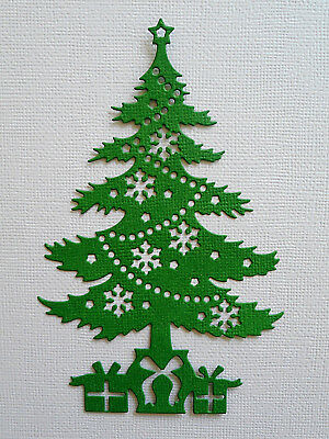 Christmas Tree Paper Die Cuts x 8 Scrapbooking Card Topper Embellishment