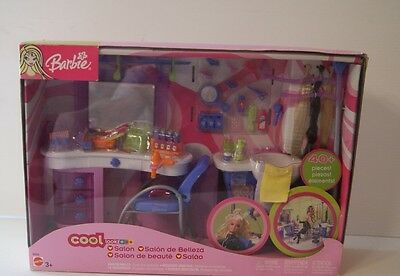 2003 Barbie Cool Looks Salon 40+ Pieces Brand New in Box