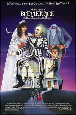 Beetlejuice Tim Burton Classic Movie Art Silk poster living Room Wall Decor