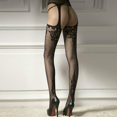 Women Fishnet Panty-Hose Tights Patterned Suspender Hole Sexy Stocking