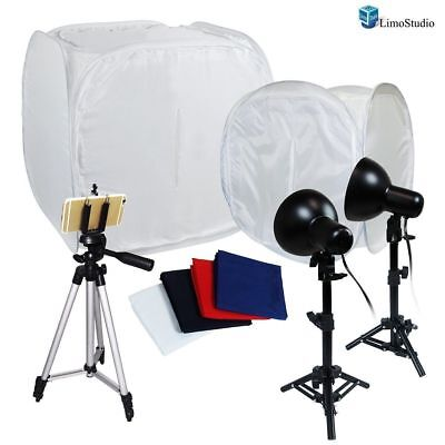"Photo Photography Light Tent Backdrop Kit Lighting In A Box 30""12"""