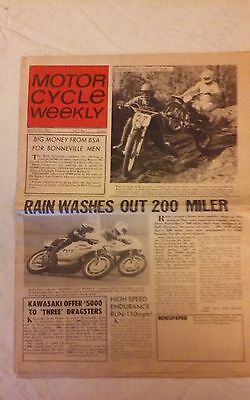 Mar. 19 1969 - Motor Cycle Weekly - Vol. 1 # 1  Saddleback MX Excellent Original