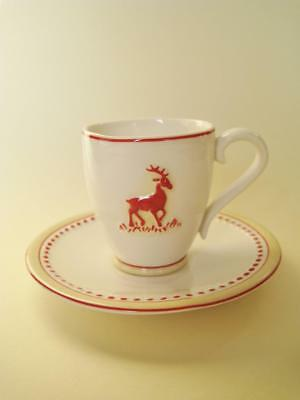 Villeroy & Boch demitasse coffee cup and saucer.