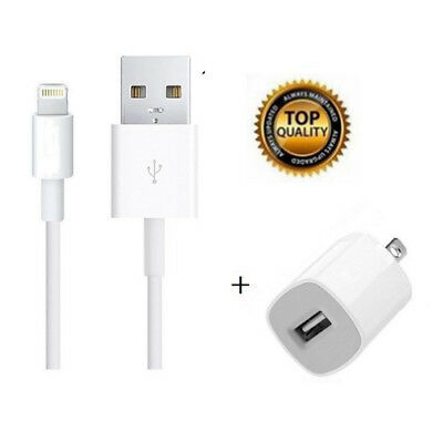 OEM USB WALL CHARGER + 8 Pin USB SYNC Power Cord Cable for iPhone 5 6 7 8