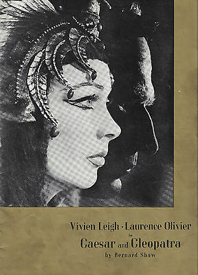 "Vivien Leigh ""CAESAR and CLEOPATRA"" Laurence Olivier / Bernard Shaw 1951 Program"