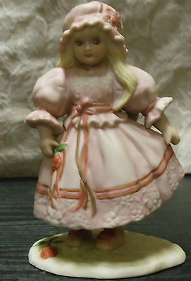 Schmid Childhood & Remembrance June Amos Grammer 1990 Hand Painted Girl Figurine