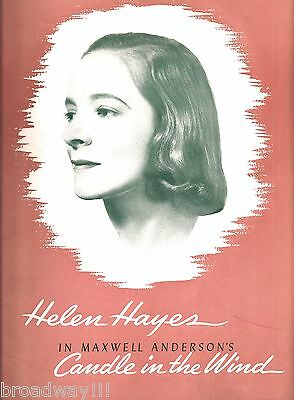 "Helen Hayes ""CANDLE IN THE WIND"" Maxwell Anderson 1941 Souvenir Program"