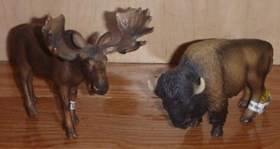 Schleich Buffalo/Bison and Moose NEW with Tags!