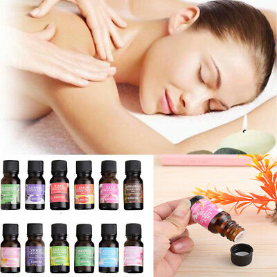 10ml Pure & Natural Fruit Plant Essential Oils Water Soluble Oil 12 Styles Women