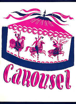 "Rodgers & Hammerstein ""CAROUSEL"" John Raitt / Jan Clayton 1945 Tryout Program"