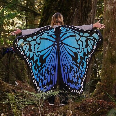 Adult Soft Butterfly Wings, USA, wrist loops, in organza bag, Great gift!
