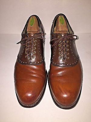 Vintage Foot Joy Classic Two Toned Brown Leather Saddle Golf Shoes Size 11 D