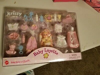 Barbie Krissy Baby Layette  Matte Doll, Clothes & Accessories Set Sealed Retired