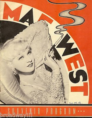 "Mae West ""COME ON UP"" Out-of-Town Tryout 1946 St. Louis Program / Ticket Stub"