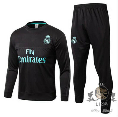 Man football Sportswear Sportswear Black suit Real Madrid CF Training clothes.