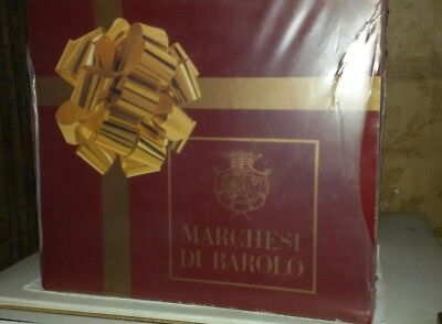 Marchesi di Barolo 4 bottiglie in box originale vintage italian's wine, Alt wein
