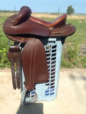 Ord River 14.5in Youth Half Breed Leather Saddle