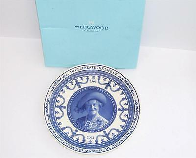 Boxed Wedgwood H.M.Queen Elizabeth The Queen Mother Plate.c.2002.