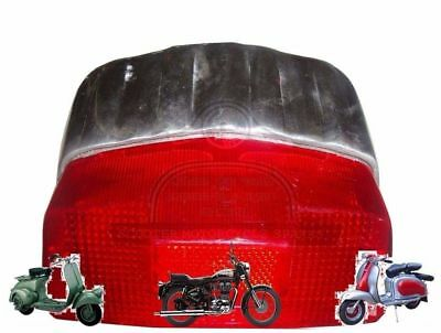 Lambretta Gp Tail Rear Brake Light Back Light Lamp Unit Alloy Polished @de