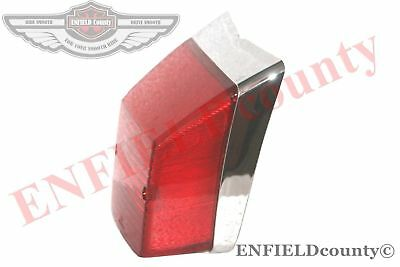 Rear Lamp Tail Light Chrome Retro Vespa Lml Star Stella Px 125 150 200 Scoo @de