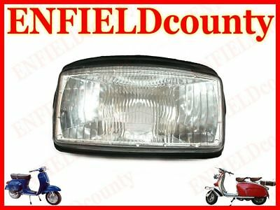 Brand New Vespa Headlight Lamp Unit Assembly With Rubber Beading T5 @de