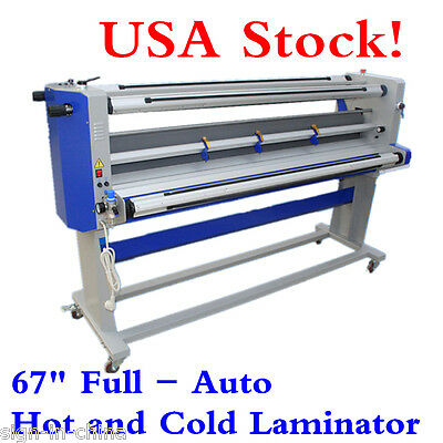"""110V 67"""" Full - auto Single-Side Wide Format Hot and Cold Laminator With Trimmer"""